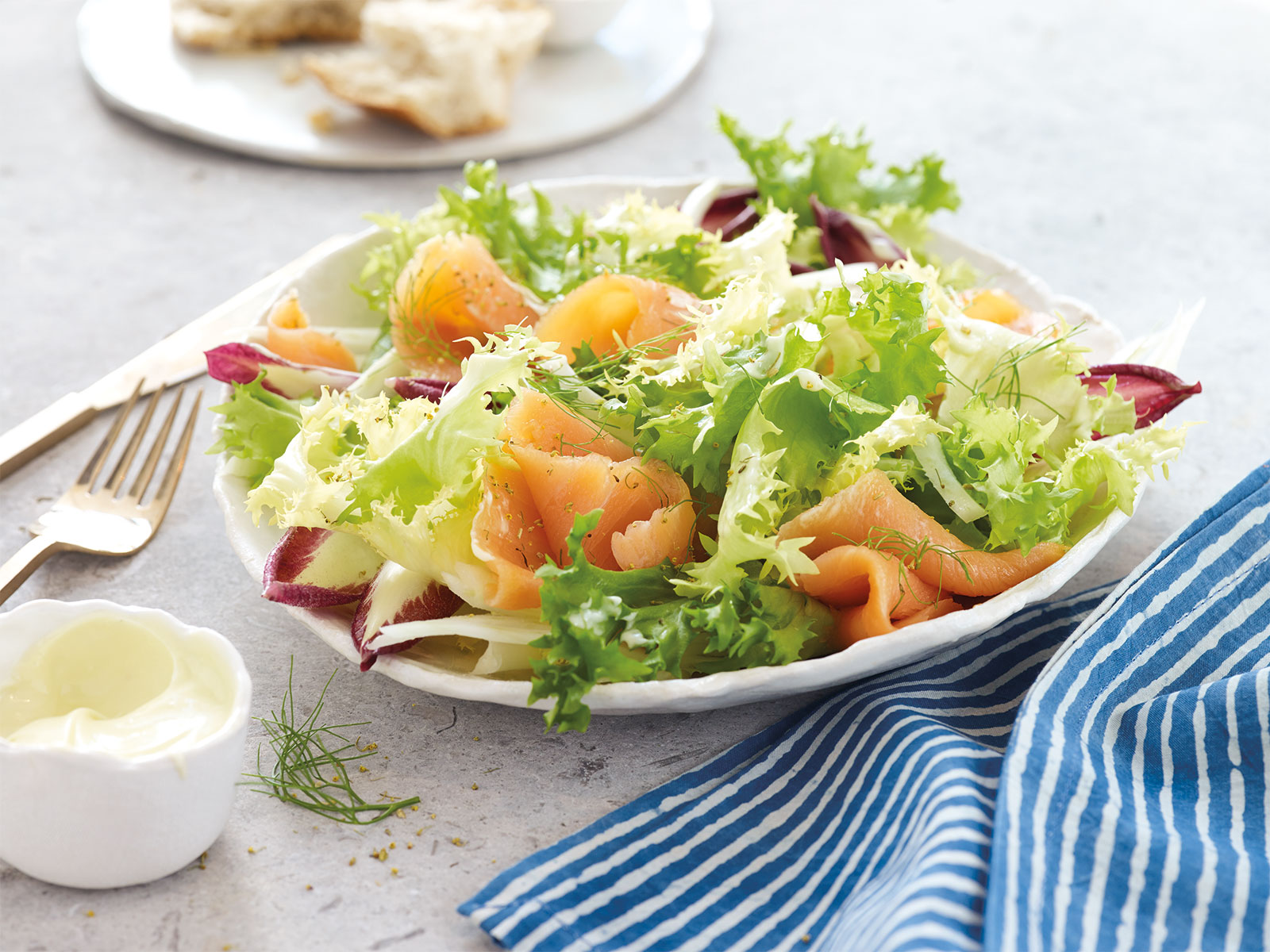 Smoked Salmon with Fennel and Endive Salad
