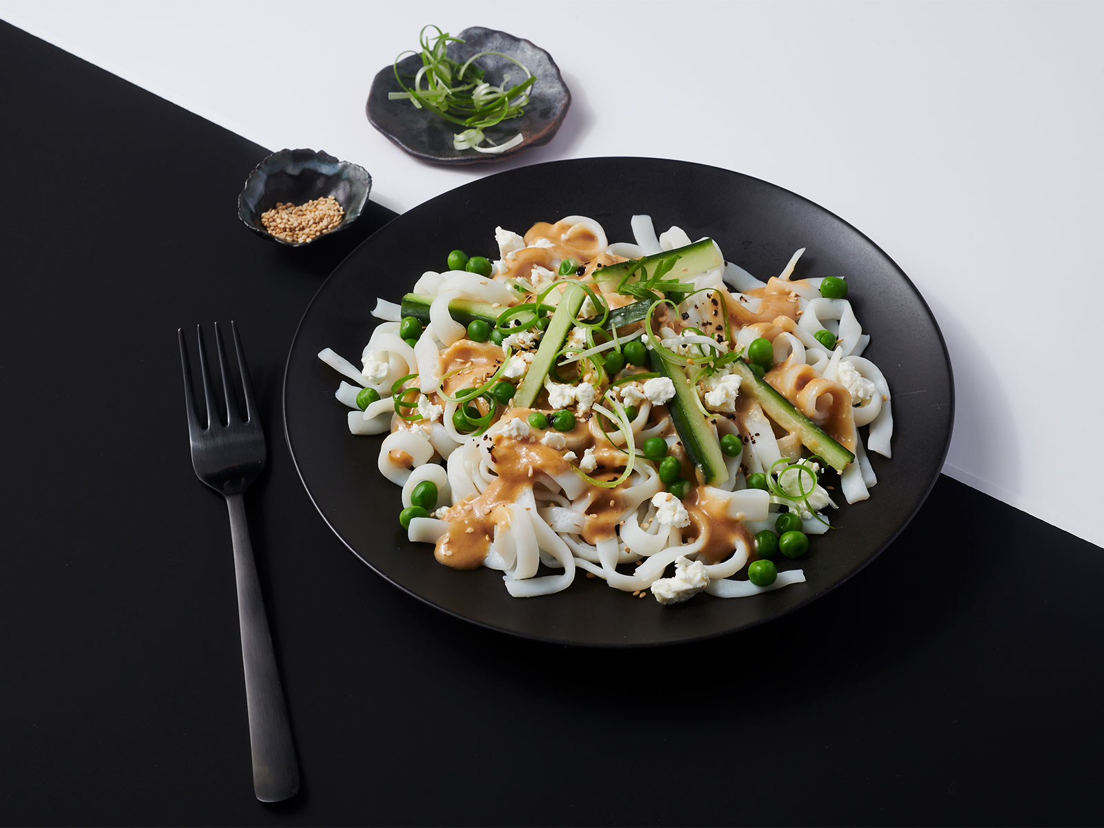 10g Protein Noodles™ with Cucumber, Feta and Tahini Dressing