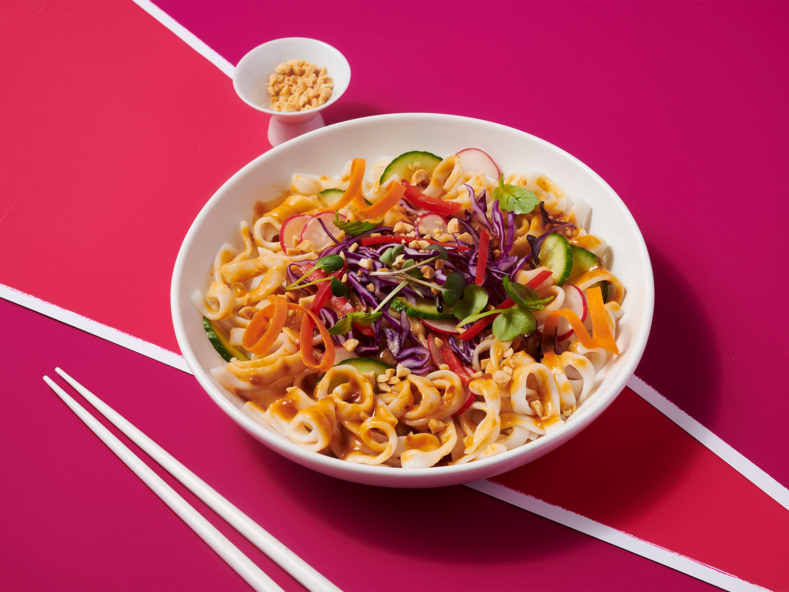 Spicy Peanut 10g Protein Noodles™ with Cabbage and Cucumbers