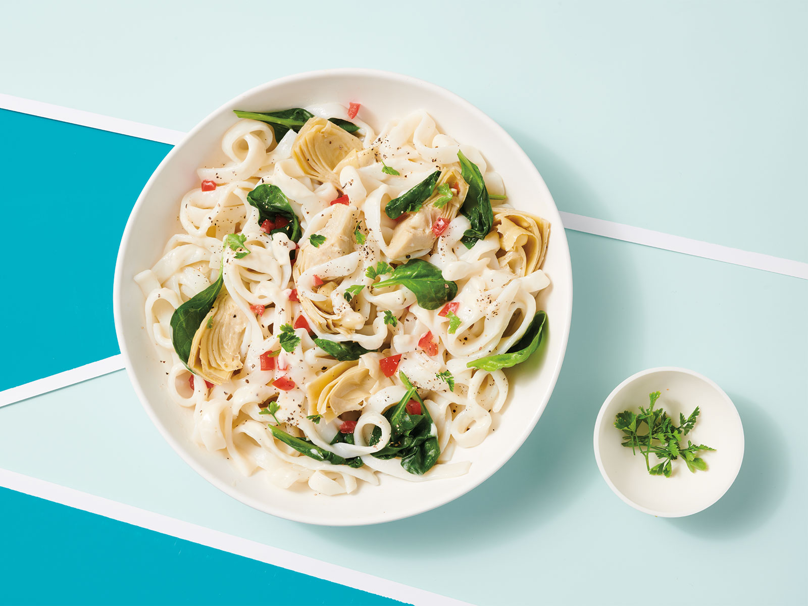 Alfredo Protein Noodles with Artichokes