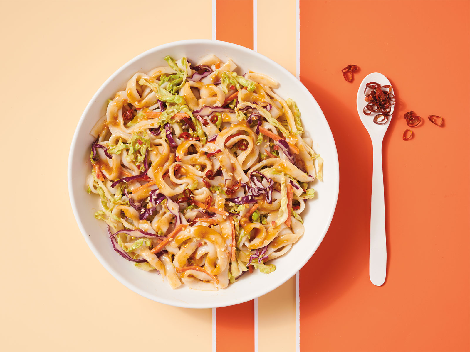 Protein Noodles with Peanut Sweet Chili Sauce