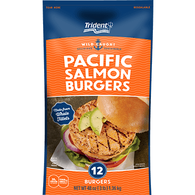 Trident Seafoods® Pacific Salmon Burgers 3 lb