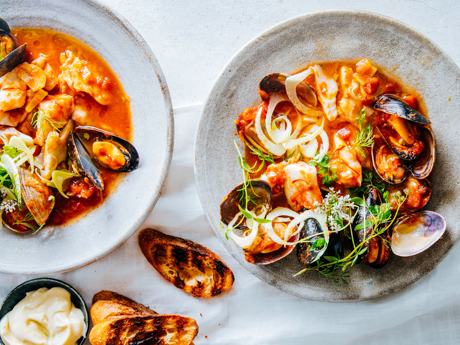 Wild Alaska Pollock Seafood Stew with Mussels and Clams